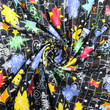 "Soft Polycotton Fabric - 'Speech Bubble' - 44"" Wide"