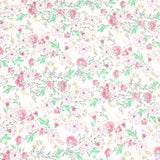 "3FOR5 Georgette Fabric 'Pretty Pink Flowers' 60"" Wide"