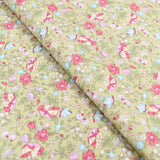 "100% Cotton Poplin 'Garden Floral' - 44"" Wide"
