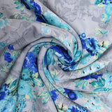 3FOR5 American Crepe Fabric 'Blue & Grey'