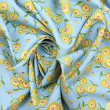 "100% Cotton 'Yellow Floral' 44"" Wide"
