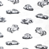 "100% Cotton 'Vintage Cars' 44"" Wide"