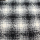 "3FOR10 Wool Blend Fabric 'White Tartan' 60"" Wide"