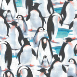 "100% Quilting Cotton 'Happy Penguins' - 60"" Wide"
