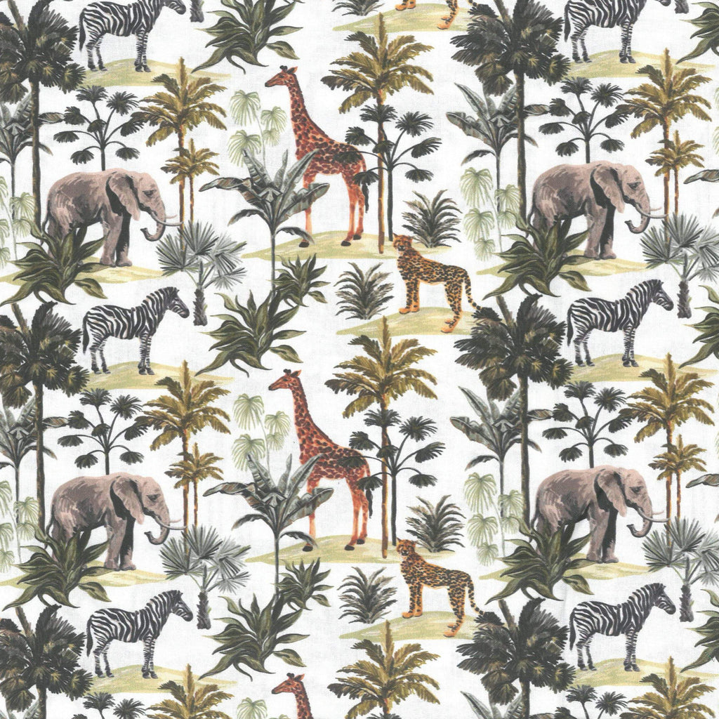 "100% Quilting Cotton 'Animal Kingdom' - 60"" Wide"