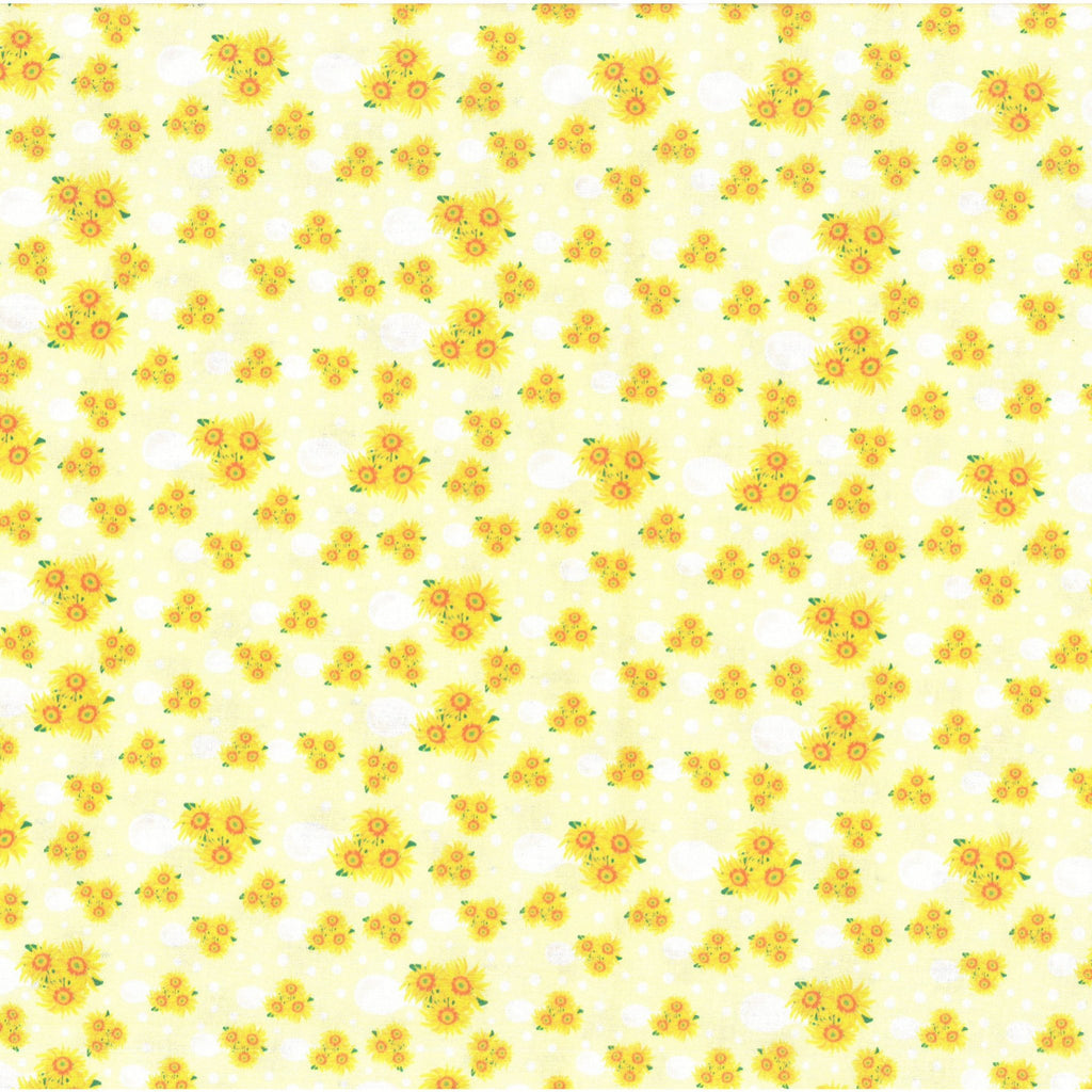 "100% Quilting Cotton 'Sunflowers' - 60"" Wide"