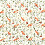 "100% Quilting Cotton 'Foxes & Hedgehogs' - 60"" Wide"