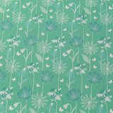 TFG Turquoise Quilting Cotton, Large Floral, Springtime Floral Collection FF399.2