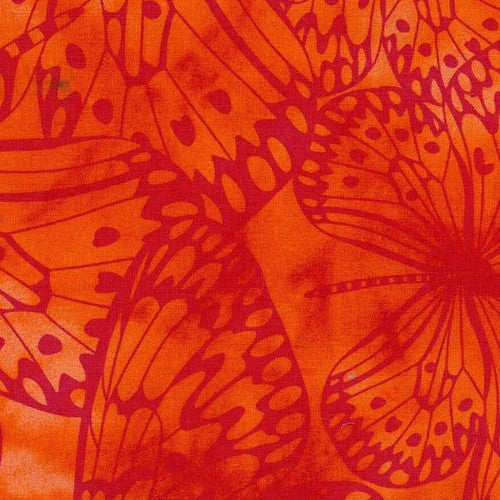 Orange Premium 100% Cotton Melody With Butterfly Printing.