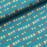 Circus Buntings Quilting Cotton, Bright Colors, Circus Collection, FF296.1, Premium Cotton