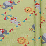 Circus Elephants Quilting Cotton, Bright Colors, Circus Collection, FF295.1, Premium Cotton