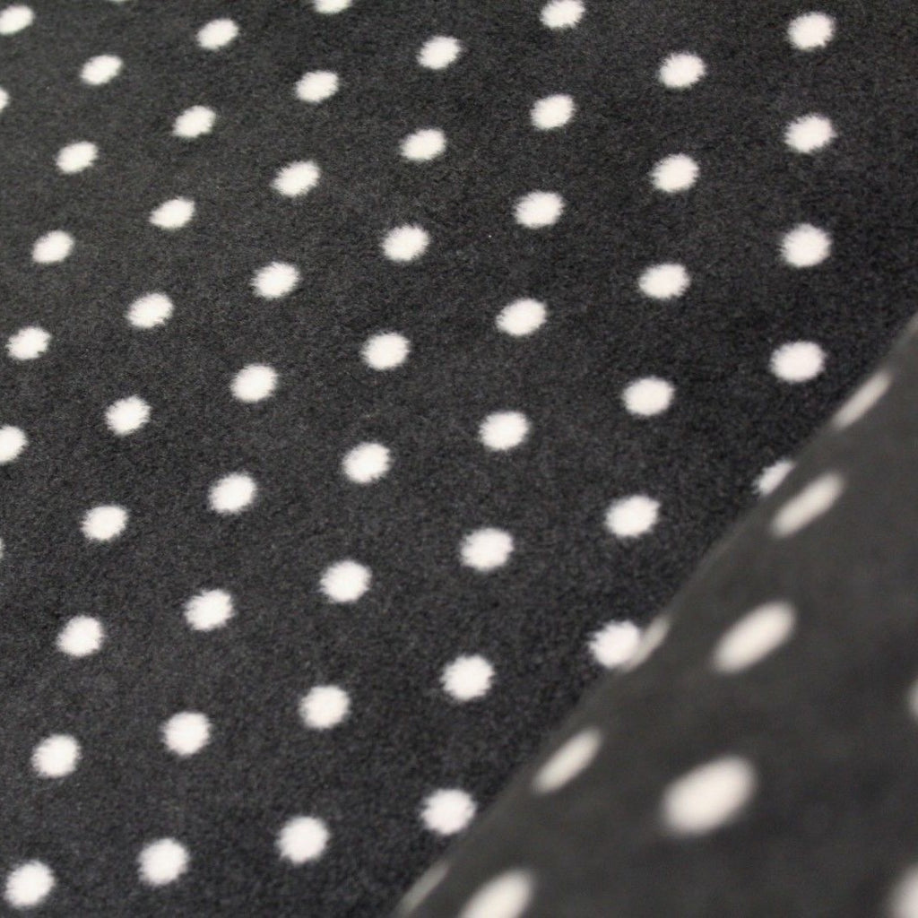 Printed Polar Anti Pill Fleece Black & White Spots