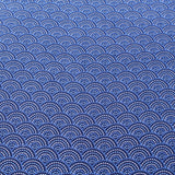 Blue Brushed Cotton, Scales, Art Deco, ST168