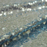 Sequins On Dress Net Blue