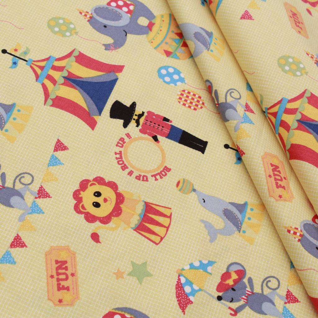 Circus Fun Quilting Cotton, Bright Colors, Circus Collection, FF292.1, Premium Cotton