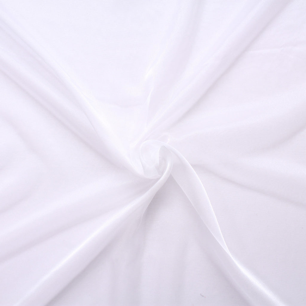 "Plain Shimmer Organza Fabric Ivory 100% Nylon , 60"" Wide"