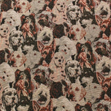 Premium Animal Print Soft Tapestry Fabric Dogs