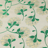 William Morris Inspired Shimmer Brocade Jacquard Fabric Green