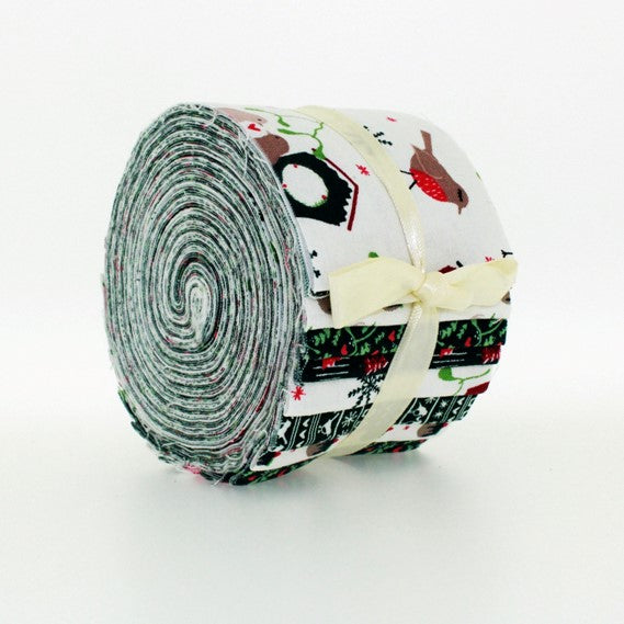 100% Cotton Baby Rolls, Green, Festive Friends