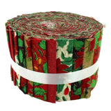 100% Cotton Baby Rolls, Green, Christmas Floral