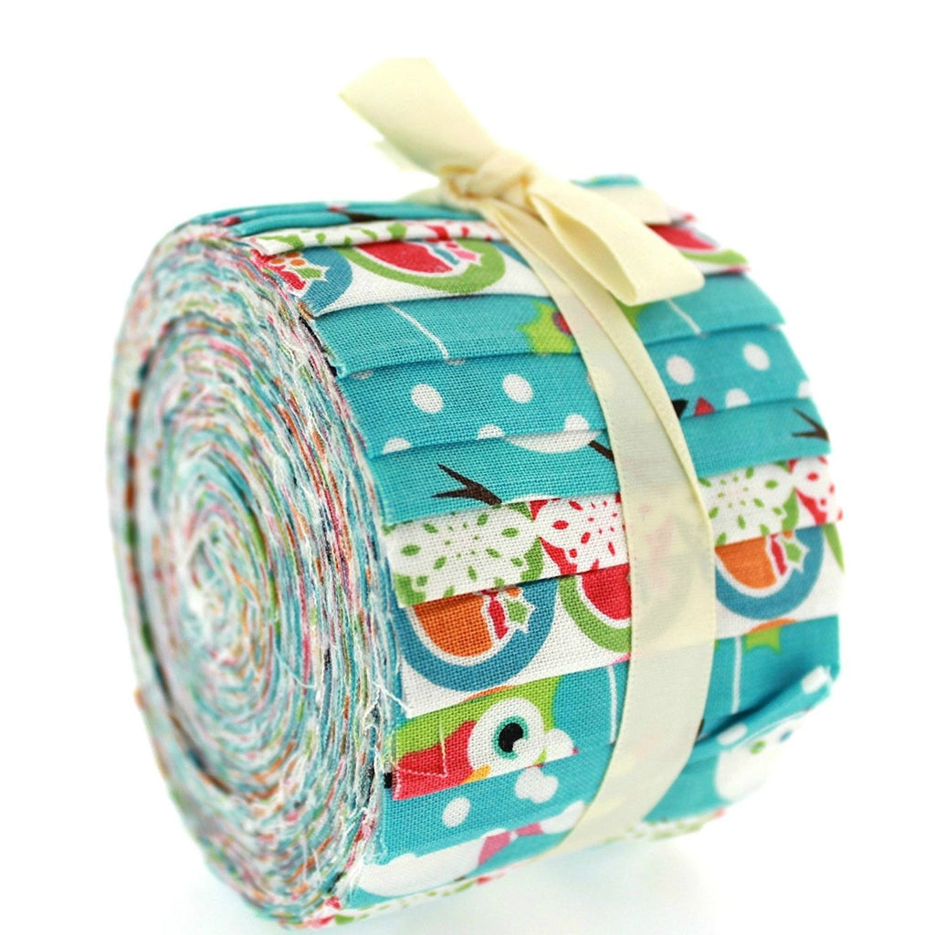 100% Cotton Baby Rolls, Blue, Christmas Characters