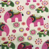 Printed Polar Anti Pill Fleece Floral Elephants