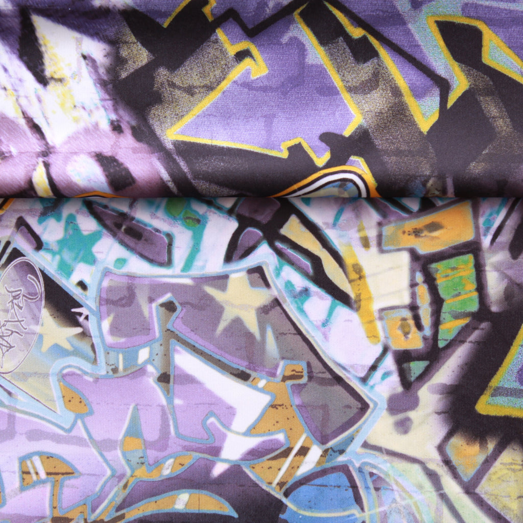 Graffiti Print, Polyester Fabric, 60""