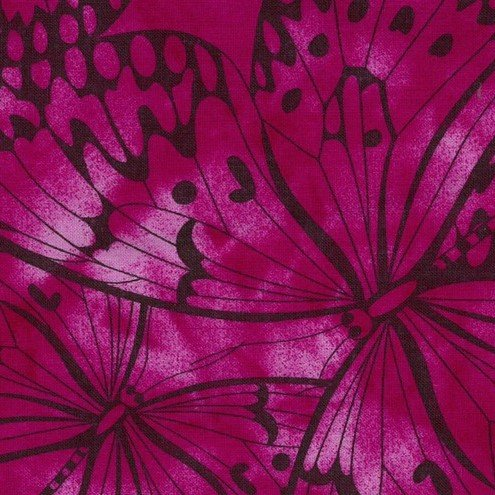 Fuschia Premium 100% Cotton Melody With Butterfly Printing.