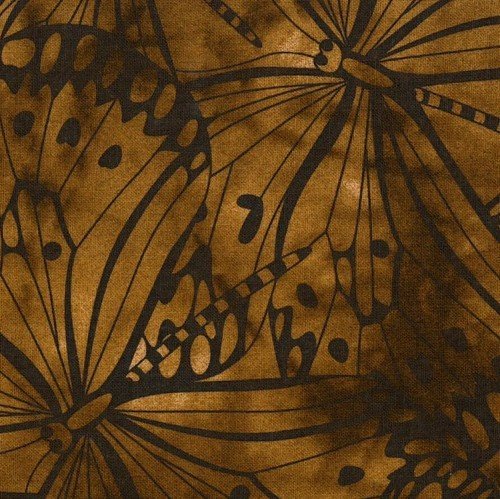 Dark Brown Premium 100% Cotton Melody With Butterfly Printing.