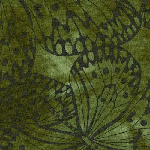 Green Premium 100% Cotton Melody With Butterfly Printing.