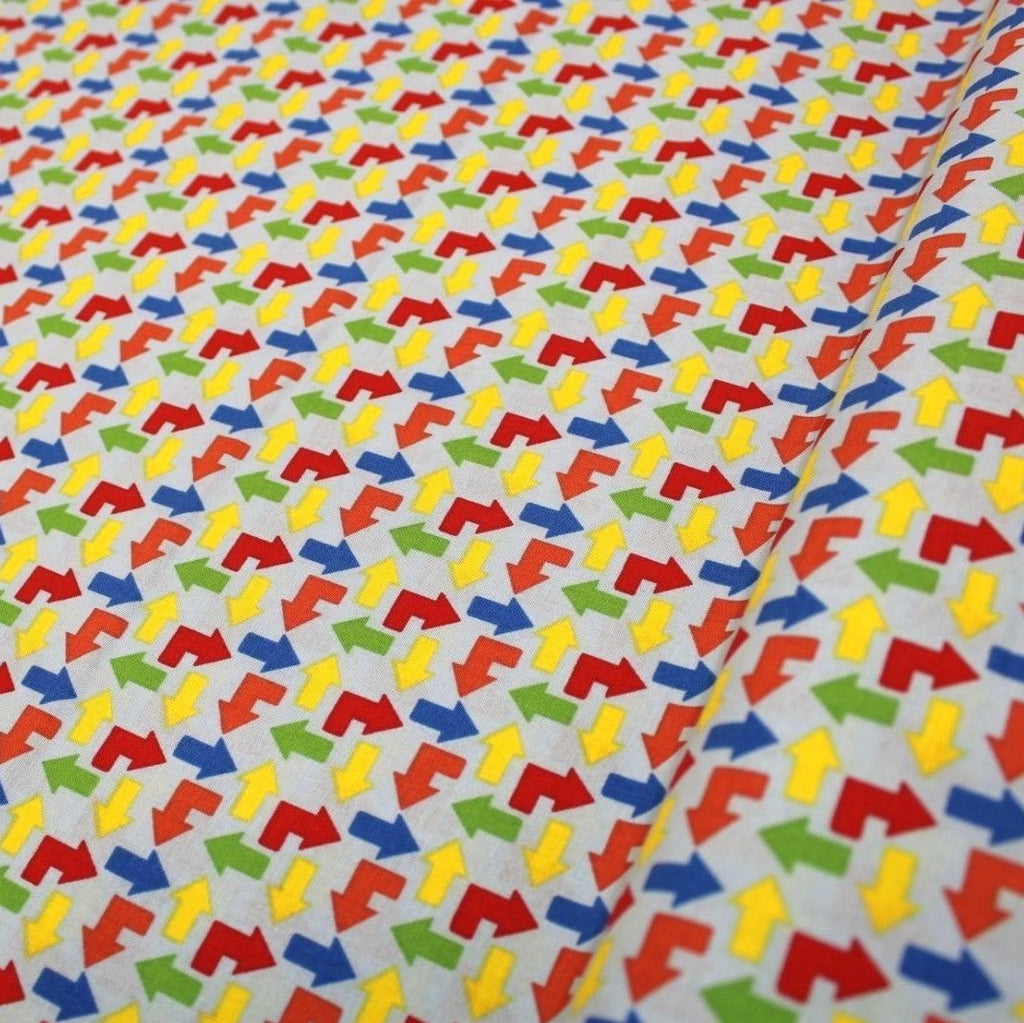 Arrows Themed Quilting Cotton, Zoom Collection, Blue