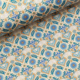 100% Cotton Lawn With Gold Detailing