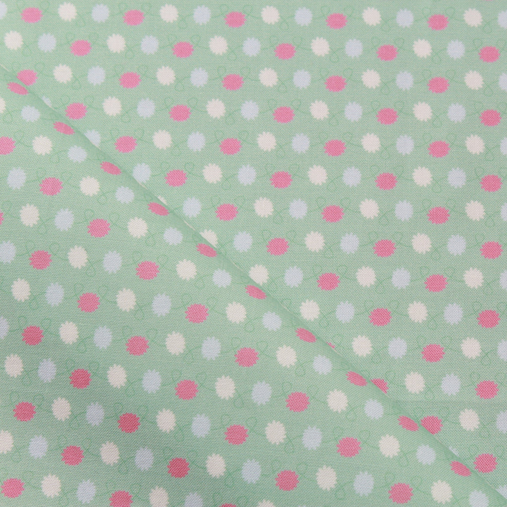 TFG Light Green Quilting Cotton, Abstract Floral, Mexicola FF407.2