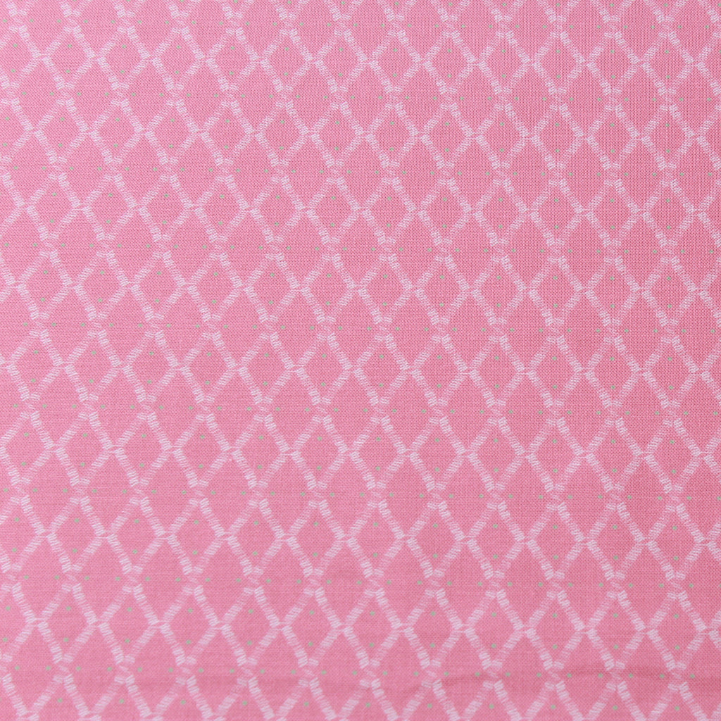 TFG Pink Quilting Cotton, Diamonds, Mexicola, FF409.2