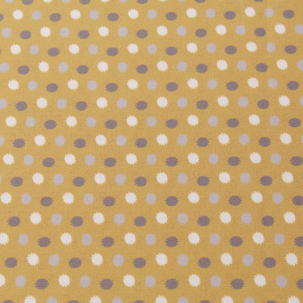 TFG Mustard Quilting Cotton, Abstract Floral, Mexicola FF407.1