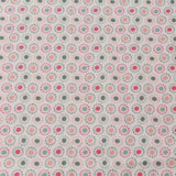 TFG Orange Quilting Cotton, Floral Circles, Mexicola, FF408.3
