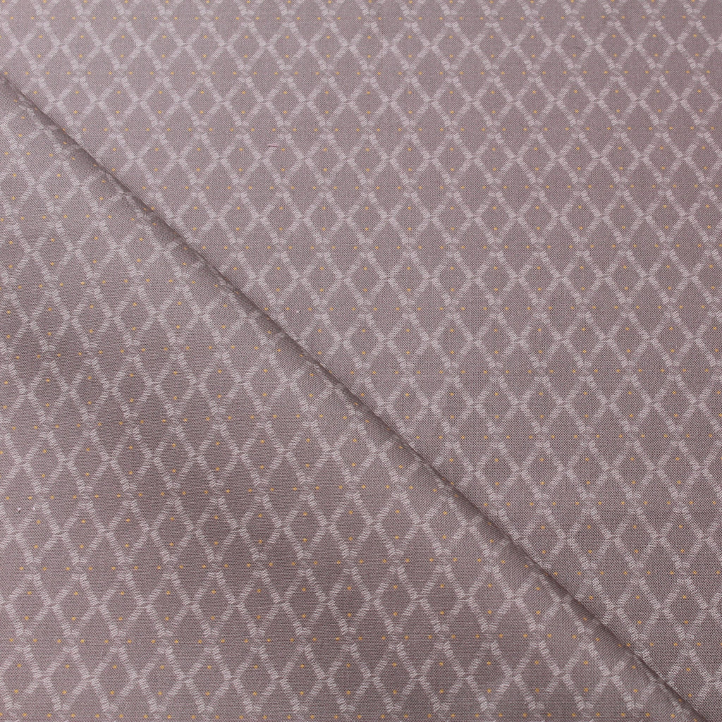 TFG Grey Quilting Cotton, Diamonds, Mexicola FF409.1