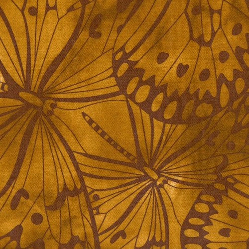Brown Premium 100% Cotton Melody With Butterfly Printing.