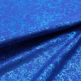 Metallic Print Lycra Blue Electricity