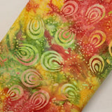 "Bali Indonesian Batik, Swirl Design, 44"" - Multi-colour BK122 G"