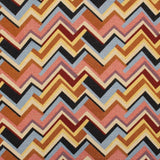 Luxury Printed Tapestry Fabric Multi Chevrons