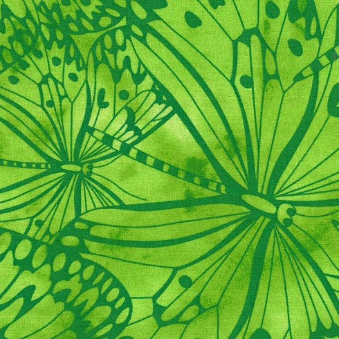 Light Green Premium 100% Cotton Melody With Butterfly Printing.