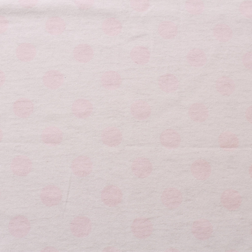 Light Pink Polka Dots Brushed Cotton, ST168-9