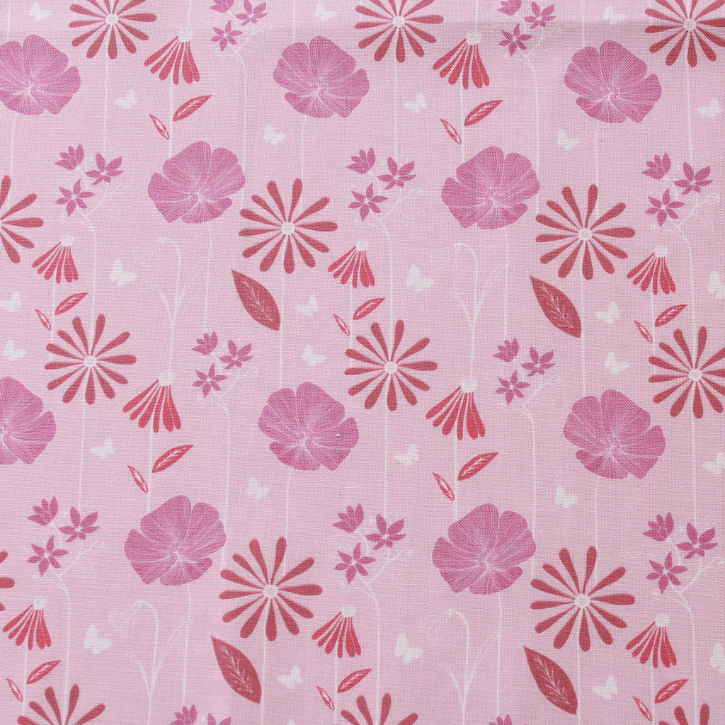 TFG Pink Quilting Cotton, Large Floral, Springtime Floral Collection FF399.3