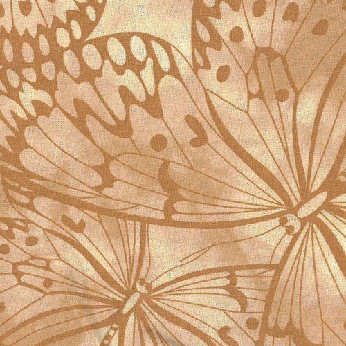 Beige Premium 100% Cotton Melody With Butterfly Printing.
