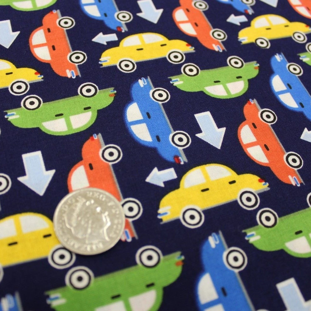 Cars Themed Quilting Cotton, Zoom Collection