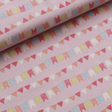 Circus Buntings Quilting Cotton, Pastel Colors, Circus Collection, FF296.2, Premium Cotton