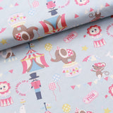 Circus Fun Quilting Cotton, Pastel Colors, Circus Collection, FF292.2, Premium Cotton