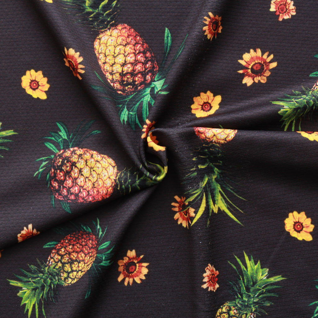 Pineapple Print, Polyester Fabric, 60""
