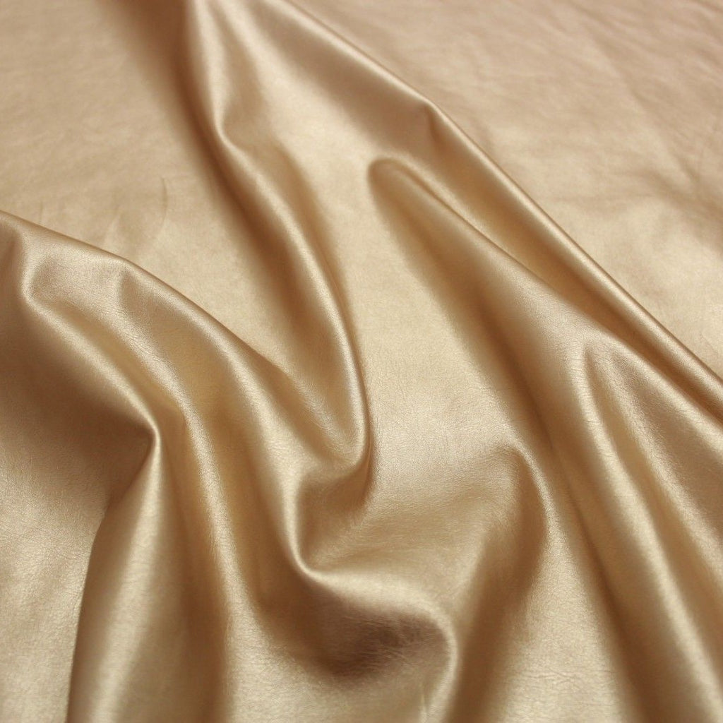Soft Spandex Pearl Faux Leather Gold
